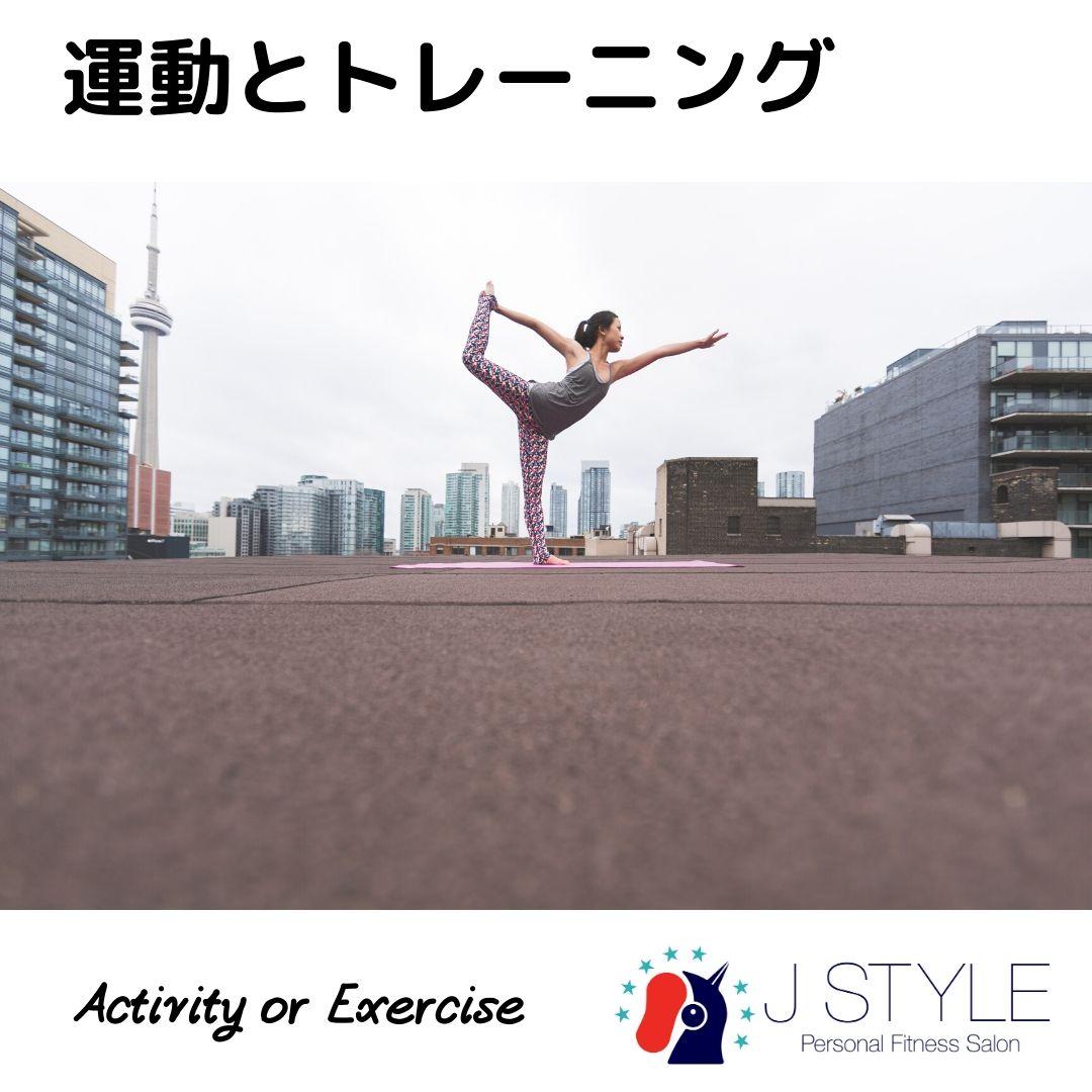 トレーニングと運動